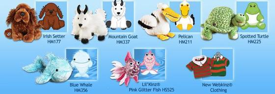 February 2009 Webkinz New Releases and Virtual Images